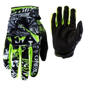 Oneal Matrix Attack Handschuhe schwarz neon gelb