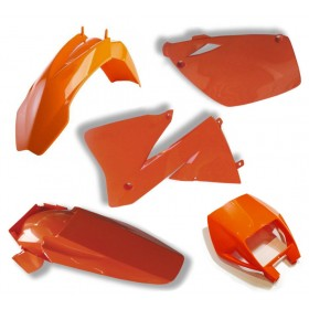 Plastiksatz KTM EXC 00-02 orange