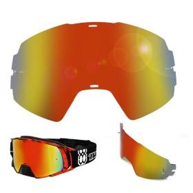 Brillenglas von TWO-X rot gelb MX Brillenglas, Ersatzglas Motocross Brille