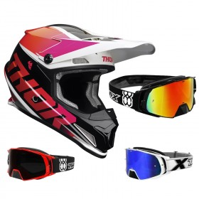 Thor Sector Crosshelm Fader pink inkl. TWO-X Rocket Crossbrille