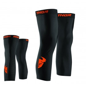Thor Comp S8 Knee Sleeve Beinlinge schwarz rot orange