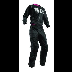 Thor Girls Crosshose Terrain schwarz pink