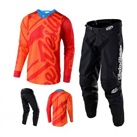 Troy Lee Designs Shadow Combo Jersey Crosshose orange schwarz