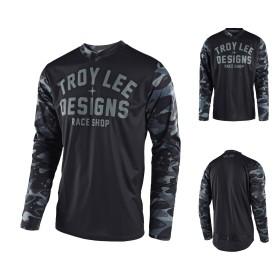 Troy Lee Designs GP Cosmic MX Jersey camo grau