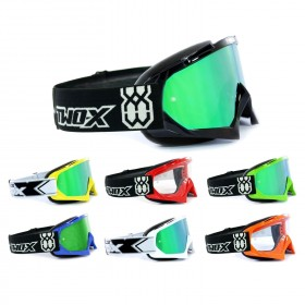TWO-X Race Crossbrille grün verspiegelt Solid