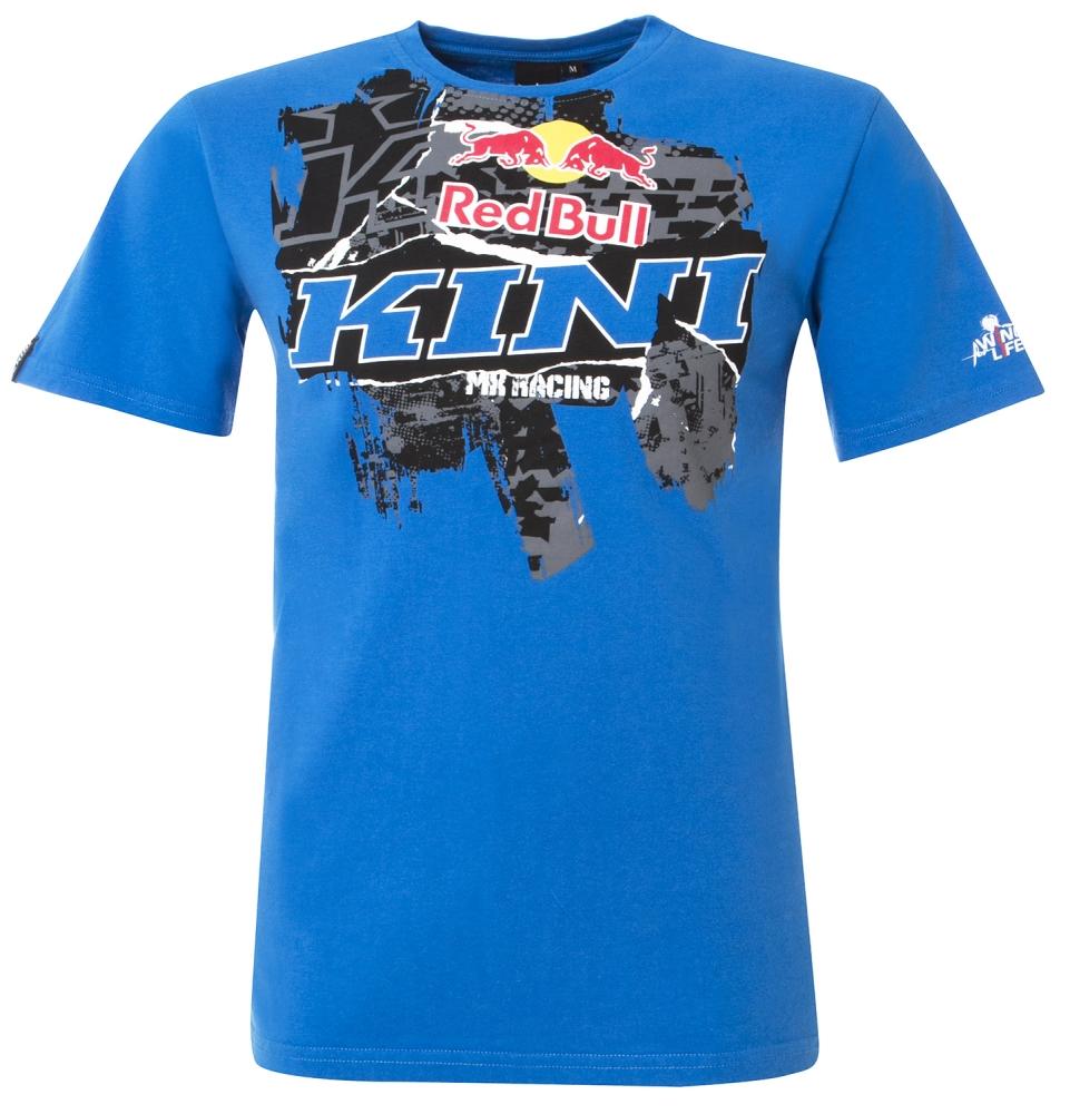 Kini red bull collage t shirt shirt freizeitshirt blau l for Red bull logo shirt