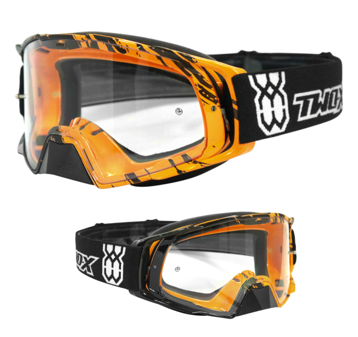 Two x fus e lunettes de moto cross craser mx enduro for Disque en miroir